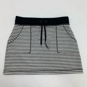 NEW Ideology Black/White Stripe Skirt Small